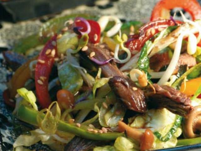 Ma recette, vite fait, bien fait, du wok de boeuf au chou chinois