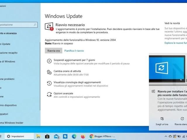 Microsoft ajoute une nouvelle notification de mise à jour dans Windows 10 May 2020 Update