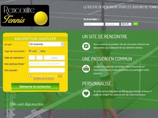 RencontreTennis.fr – 1er site de rencontre pour les joueurs de Tennis !