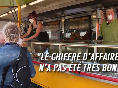 """Le marché de La Batte a repris à Liège: """"Les gens sont vraiment HEUREUX de le retrouver""""... mais le bilan est mitigé"""