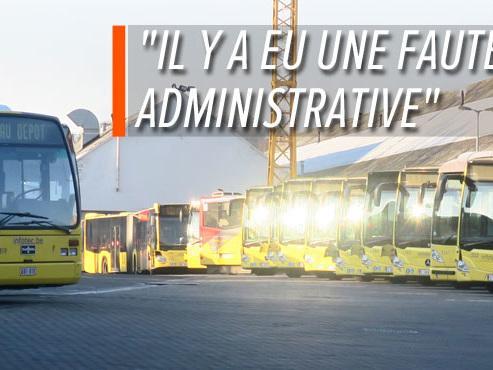 """Luc ne peut pas monter dans le bus, car le véhicule est en défaut de contrôle technique: """"Je me suis vraiment demandé si c'était un canular"""""""