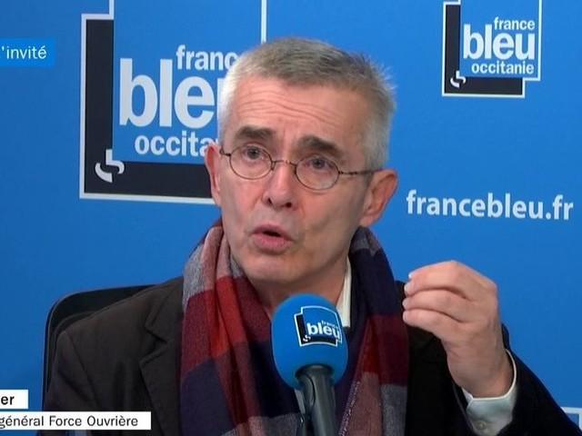 """VIDÉO - Yves Veyrier (FO) : le 5 décembre, """"l'objectif c'est d'être entendu"""" sur les retraites"""