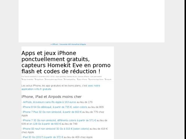 Apps et jeux iPhone ponctuellement gratuits, capteurs Homekit Eve en promo flash et codes de réduction !