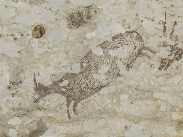 La plus ancienne scène de chasse découverte dans une grotte en Indonésie