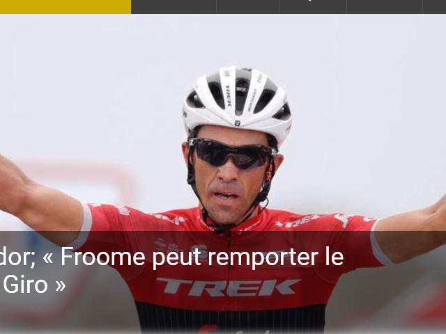 Alberto Contador; « Froome peut remporter le Tour, Bernal le Giro » - « El Pistolejo », Alberto Contador, a accordé une interview ce mardi à la Gazetta Dello Sport. Pour l'ancien vainqueur du Tour de France (2 fois), du Giro (2 fois) et de la Vuelta (3 fois), Froome pourrait remporter une 5ème fois le Tour de France tandis que son jeune coéquipier Egan Bernal pourrait, quant à lui,...-(Be Celt)