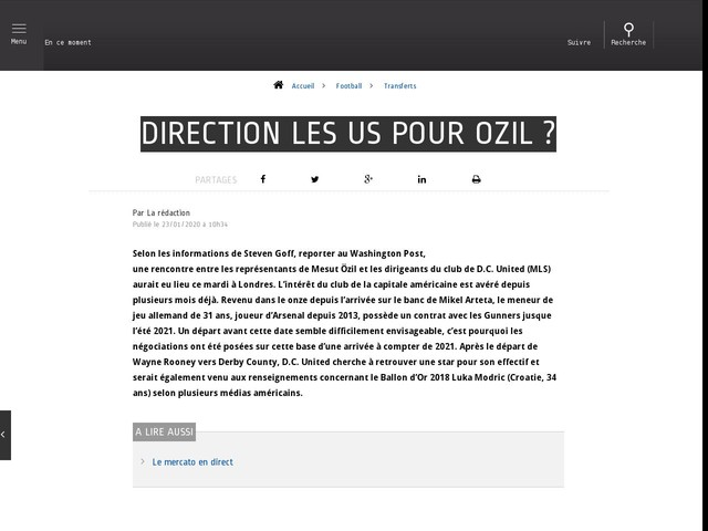 Football - Transferts - Direction les US pour Ozil ?