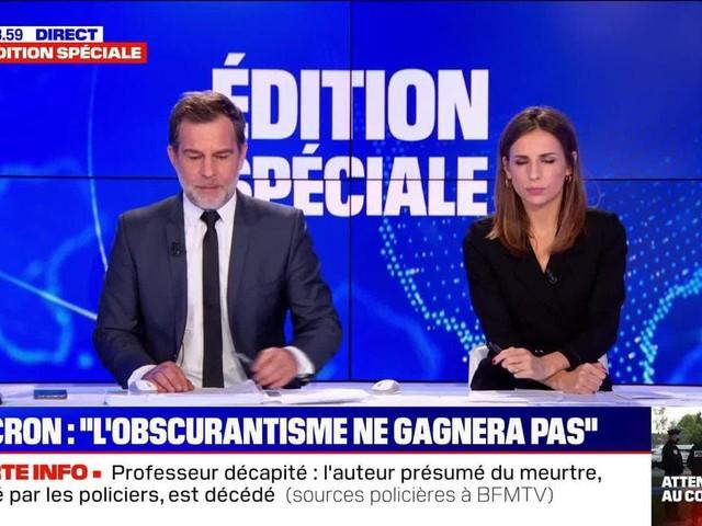 """Homme décapité à Conflans: """"L'obscurantisme ne gagnera pas"""", selon Emmanuel Macron (2/2) - 16/10"""
