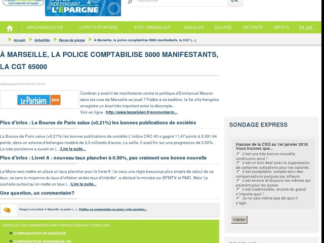 À Marseille, la police comptabilise 5000 manifestants, la CGT 65000