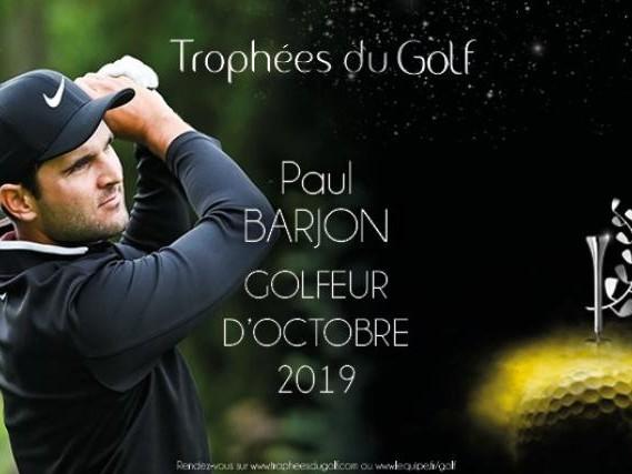 Golf - EPGA - Paul Barjon élu meilleur Français d'octobre