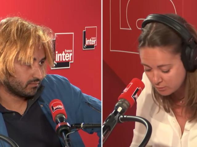 VIDEO. France Inter : quand Charline Vanhoenacker fait sa chronique face à un homme avec une perruque pour remplacer Marine Le Pen