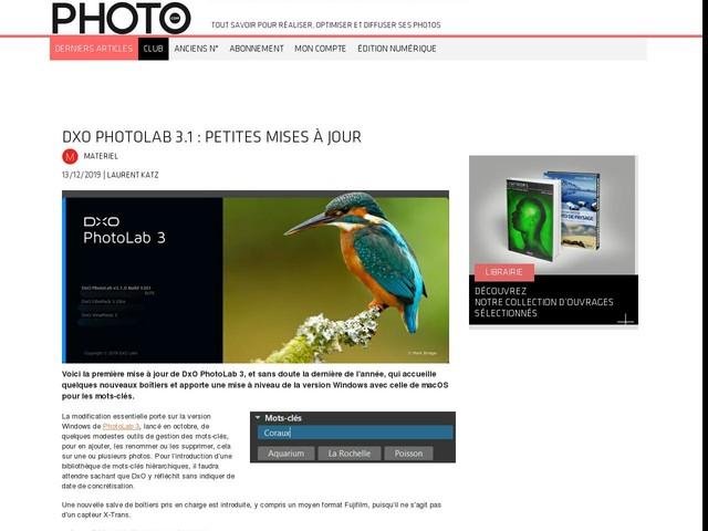 DxO PhotoLab 3.1 : petites mises à jour
