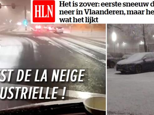 Quelques villes de Flandre sont recouvertes d'une couche blanche, mais ce n'est sans doute pas ce que vous croyez
