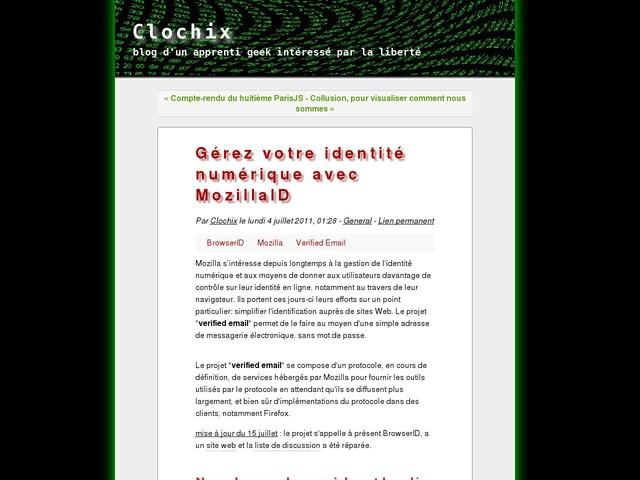 Gérez votre identité numérique avec MozillaID