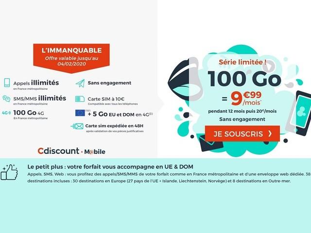 Un forfait mobile 100 Go à 10 €, mais pour quoi faire ?