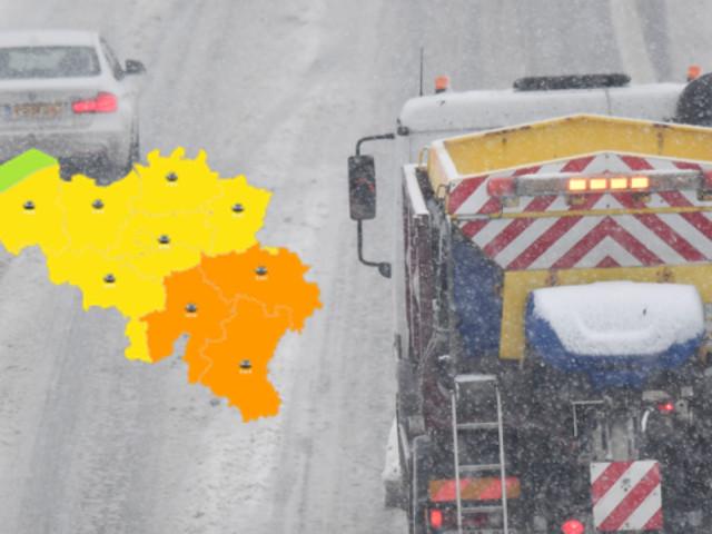 La quasi-totalité de la Belgique passe en alerte conditions glissantes ce samedi: 2 à 6 cm de neige, plaques de glace, températures négatives…