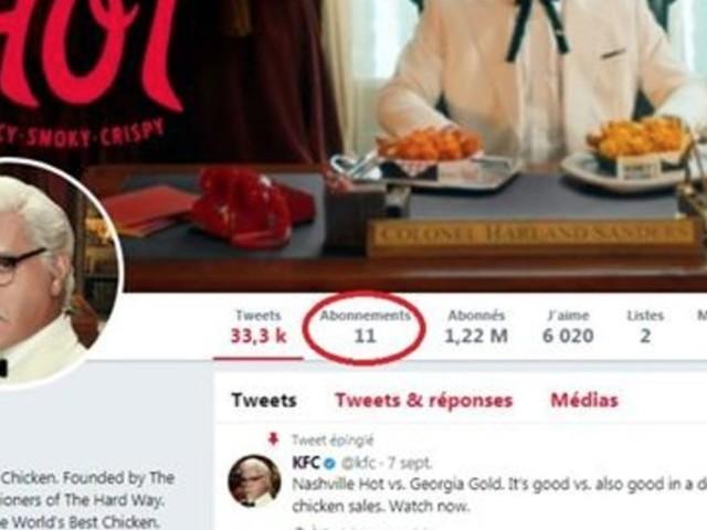 """Vous ne devinerez jamais pourquoi KFC ne """"suit"""" que ces 11 personnes sur Twitter"""