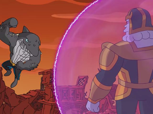 Les Simpson : un épisode spécial Avengers avec Kevin Feige dans la peau de Thanos débarque ! (extrait vidéo)