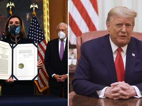 """Donald Trump destitué par la Chambre des représentants appelle les Américains à """"l'unité"""""""