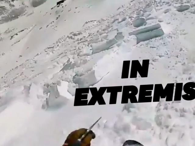 L'airbag anti-avalanche a sauvé ce snowboardeur américain
