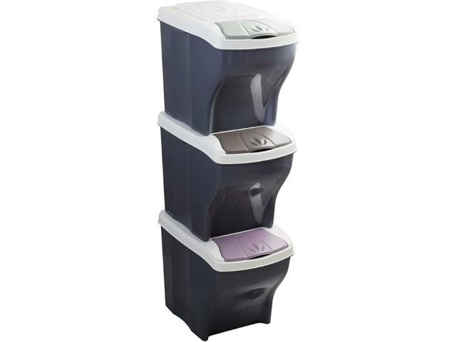 Triez plus facilement vos déchets avec cette poubelle équipée de 3 compartiments