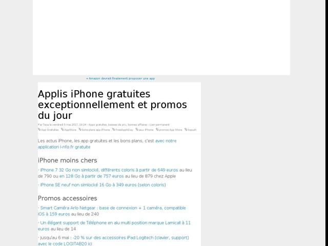 Applis iPhone gratuites exceptionnellement et promos du jour