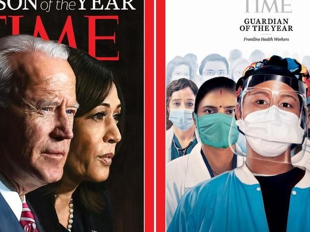 """Joe Biden et Kamala Harris """"Personnalités de l'année"""" du Time"""