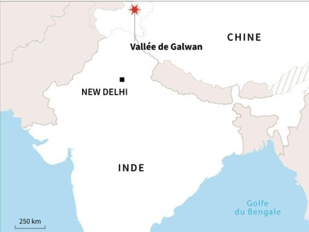Premier affrontement militaire meurtrier entre l'Inde et la Chine en 45 ans
