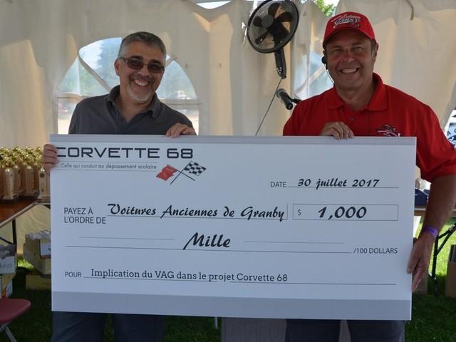 Les Voitures anciennes de Granby s'impliquent dans le projet Corvette 68