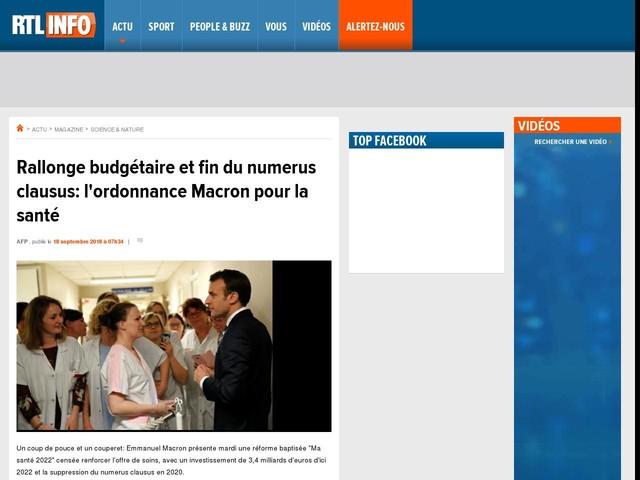 Rallonge budgétaire et fin du numerus clausus: l'ordonnance Macron pour la santé