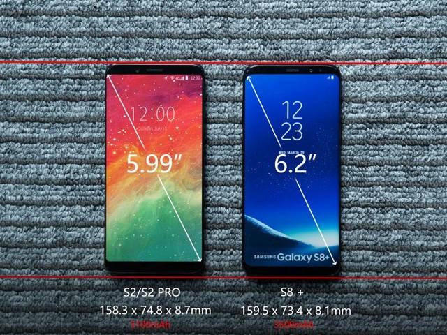 UMIDIGI S2 Pro vs SAMSUNG S8 +: Un corps plus petit, un écran plus Grand !