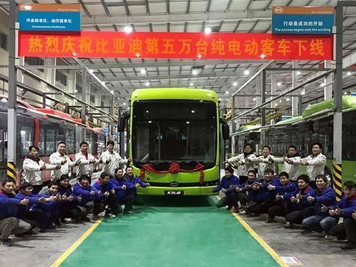 En Chine, BYD célèbre la production de son 50 000e bus électrique
