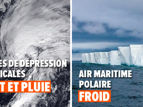 Prévisions météo pour cette semaine: les restes d'une dépression tropicale avant un air polaire