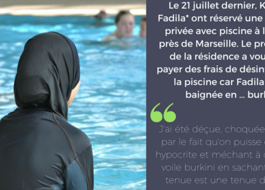 Elle se baigne en burkini, le propriétaire lui facture le nettoyage de la piscine