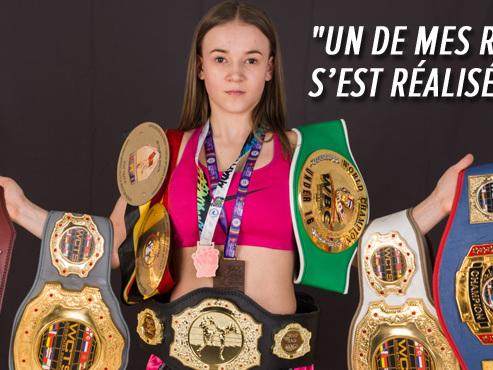 """La Belge Thalya Culot, 16 ans, championne du monde de boxe thaï: """"Mes parents cherchaient un sport pour que je puisse me défendre"""""""