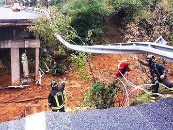 Italie: Effondrement d'un viaduc sur l'autoroute A6 à cause des pluies
