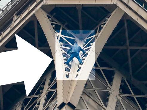 Tour Eiffel: un homme suspendu dans le vide pendant plusieurs heures, les visiteurs évacués