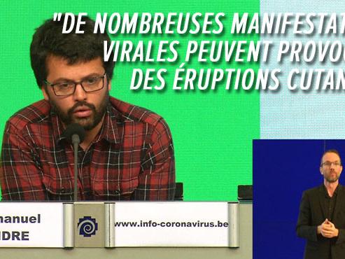 """Coronavirus: des dermatologues français alertent sur des """"manifestations cutanées"""", pas un symptôme déterminant selon Emmanuel André"""