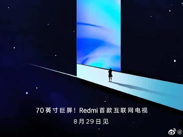 Xiaomi Redmi va lancer une TV 70 pouces le 29 août 2019