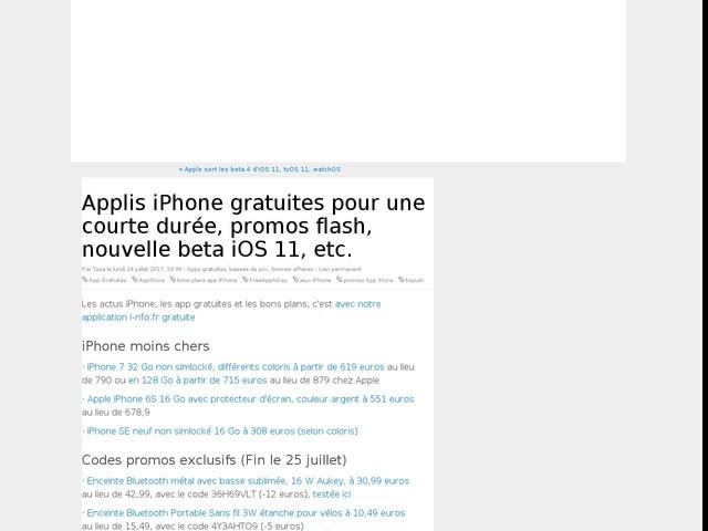 Applis iPhone gratuites pour une courte durée, promos flash, nouvelle beta iOS 11, etc.