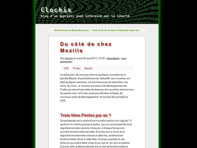 Du côté de chez Mozilla