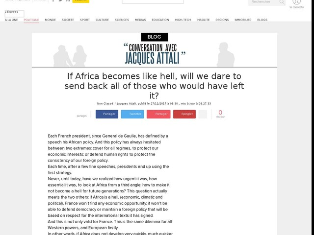 If Africa becomes like hell, will we dare to send back all of those who would have left it?
