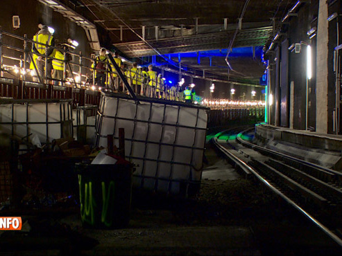 La jonction midi-nord à Bruxelles comme vous ne l'avez jamais vue: elle dispose d'un quai SECRET (vidéo)