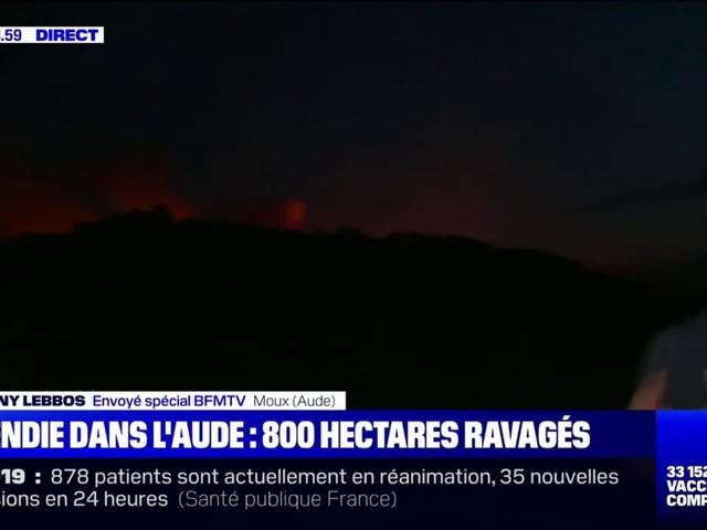 Incendie dans l'Aude: le feu n'est pas maîtrisé, il gagne en intensité