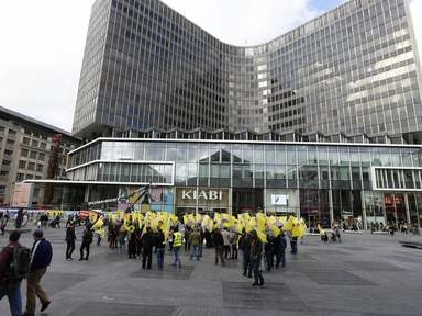 Manifestation kurde place de la Monnaie à Bruxelles