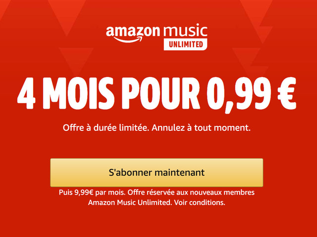 Rival de Spotify, Amazon Music Unlimited est à 0,99€ pendant 4 mois
