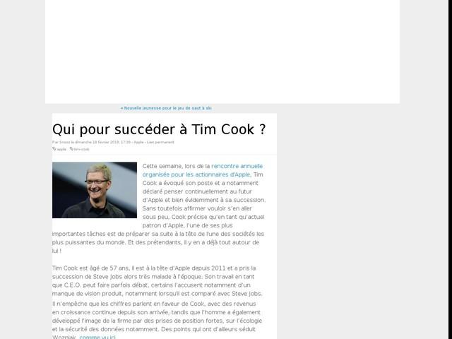Qui pour succéder à Tim Cook ?