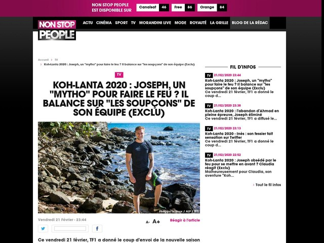 """Koh-Lanta 2020 : Joseph, un """"mytho"""" pour faire le feu ? Il balance sur """"les soupçons"""" de son équipe (Exclu)"""