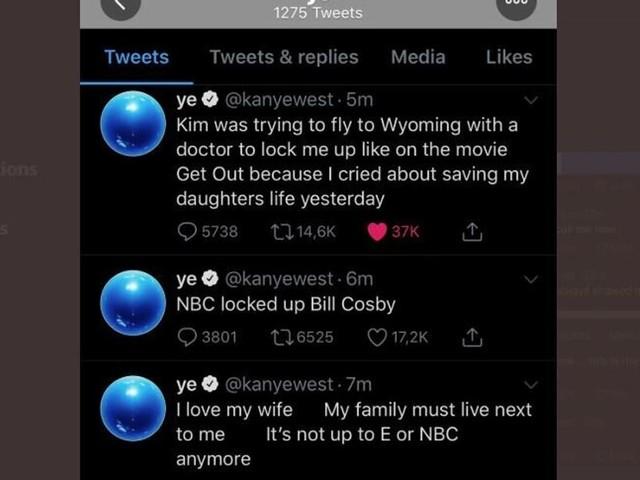 "Kanye West accuse Kim Kardashian d'avoir ""voulu l'enfermer"""