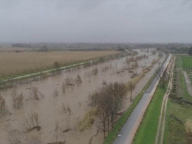 Tempête Gloria : le fleuve Agly placé en alerte rouge