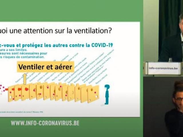 Un point presse spécial ventilation à la veille de la réouverture des terrasses: revivez-le en vidéo